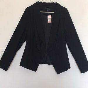 Torrid black cutaway blazer